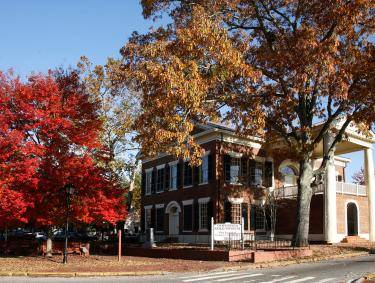Dahlonega Gold Museum State Historic Site in the fall