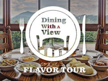Dining with a View Flavor Tour Logo - reverse