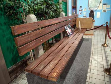 Forrest Gump Bench at Savannah History Museum