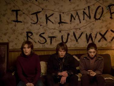 "Winona Ryder, Charlie Heaton and Natalia Dyer in ""Stranger Things"