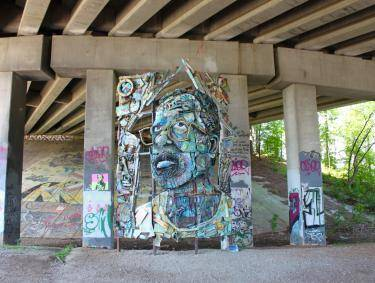 The Art of Reconciliation artwork by William Massey on the Atlanta BeltLine 2015