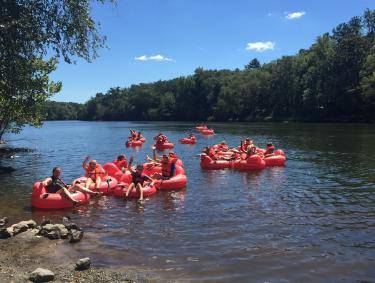 Tubing on the Ocmulgee River with Ocmulgee Adventures in Monticello