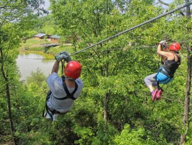 Zip Lines at North Georgia Canopy Tours