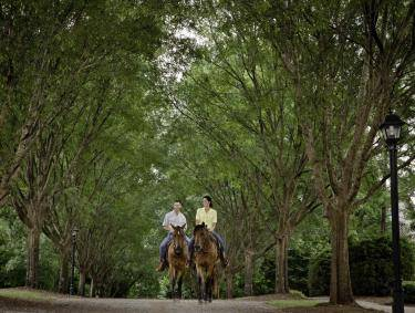 Horseback riding at Barnsley Gardens in Adairsville, Georgia