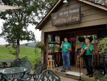Musicians at Chateau Meichtry in Ellijay