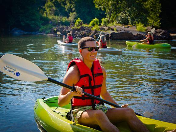 Kayaking at Oconee River Greenway Park