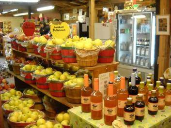 Fresh apples, ciders, jams, jellies and much more.