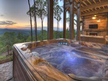 Explore cabins with hot tubs and mountain views