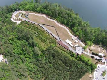 The Walk of Heroes Veterans Memorial Park - aerial