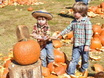 Pumpkin Smashing Fun for ALL Ages at The Rock Ranch