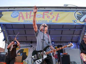 Mike Mills plays with The Baseball Project at AthFest 2015