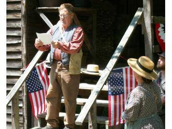 Hear the Declaration of Independence at Jarrell Plantation.