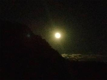 Enjoy watching the moon rise above the gorge from the suspension bridge.