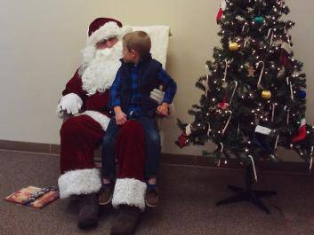 Attendees get a chance to talk to Santa, and tell him what they want for Christmas.