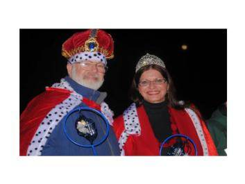 King and Queen at the Possum Drop New Years Eve