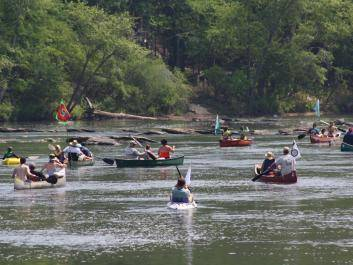 Floating down the free-flowing Flint River