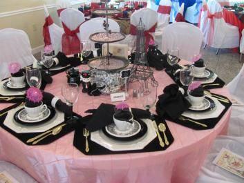 Tea tables by Cindy Davis