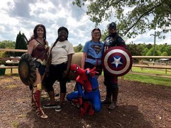Superhero Day at Fall Family Fun Days at The Rock Ranch