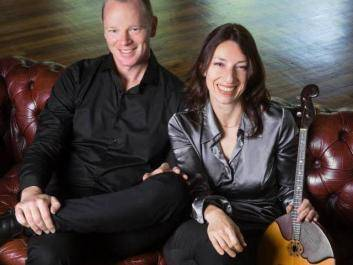 Award-winning American, classical guitarist John Huston and domra virtuoso Angelina Galashenkova-Reed.