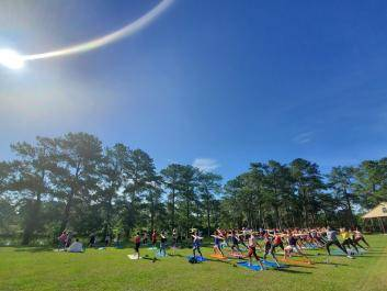 The City of Perry's Yoga in the Park Series