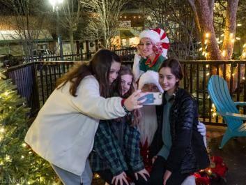 Selfies with Santa in Olde Town Conyers