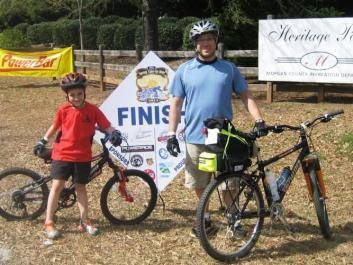 Father & son finishing a daily ride at the Spring Tune-Up Ride
