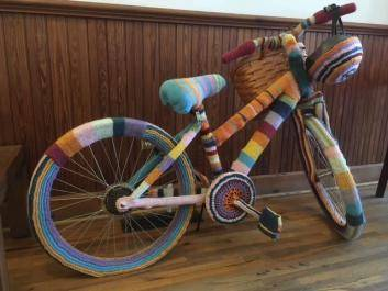 What is fiber art? A knitted bicycle! What?!