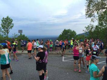 Start of half marathon. Overlook Inn