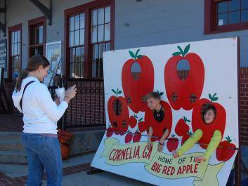 Big Red Apple Festival Visitors