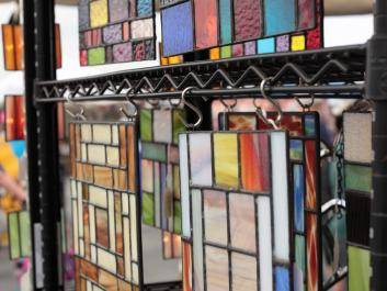 Stain Glass vendor at Conyers signature event