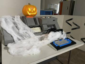 Spooky punchcard machine