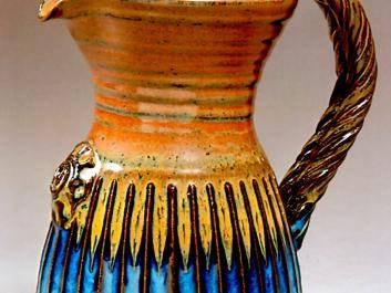 Creative glazed pitcher by David Wells