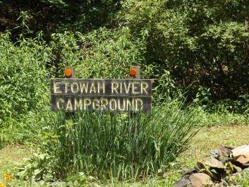 Entrance to Etowah River Campground