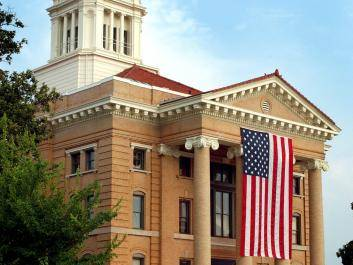 Upson County Courthouse during Memorial Day Weekend