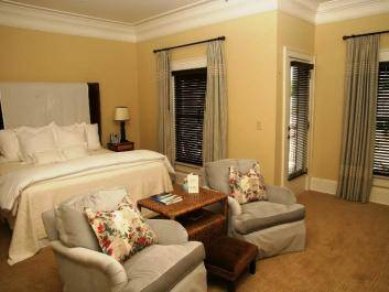 Luxury King guest room at The James Madison Inn
