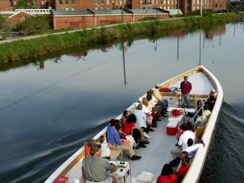 Touring Augusta Canal on a Petersburg Boat