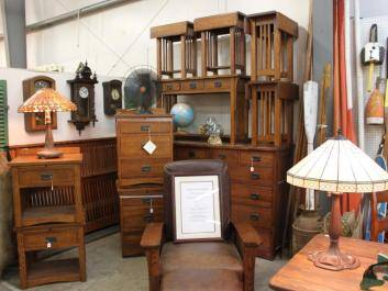 Mission furniture at Lakewood 400 Antiques Market