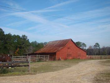 Red Barn along scenic byway route