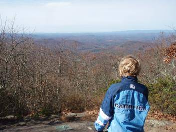 Enjoying the view from Springer Mountain on the Trout Adventure Trail