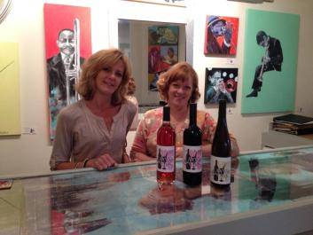 Beth Brightwell and Cat Johson, owners of Canvas and Cork, Wine Tasting and Art Studios