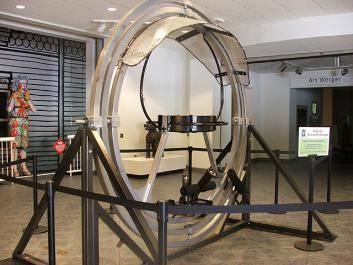 "Visitors can ""Ride Like an Astronaut"" on the Human Gyroscope, part of the STE+aM programming at the Museum of Arts and Sciences."