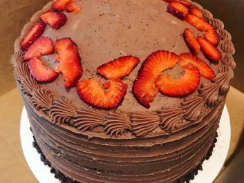 Delicious Chocolate and Strawberry Cake