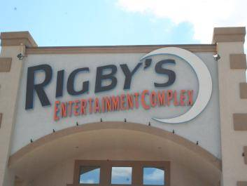 Front Entrance of Rigby's Entertainment Complex