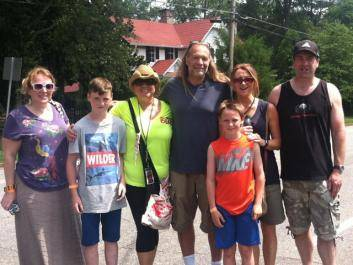Walking Dead Executive Producer Greg Nicotero visited with tour guests.