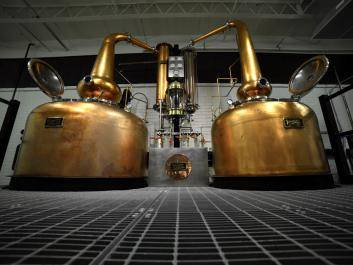Our traditional Scottish-style twin copper pot stills