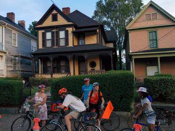 Civil Bikes on tour at Dr. King's birth home