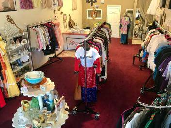 Interior of Nancy's Vintage Shop