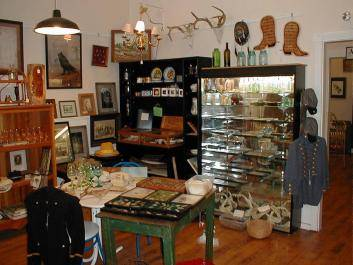 The Red Door - Antiques, local wine and wine tasting, pottery, local authors and artists, Civil War and Indian artifacts.