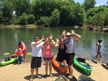 Mac's Yaks kayaking on the Oconee River in Milledgeville