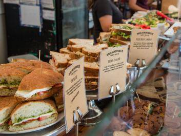 Sandwich Selection at Breadwinner Café & Bakery